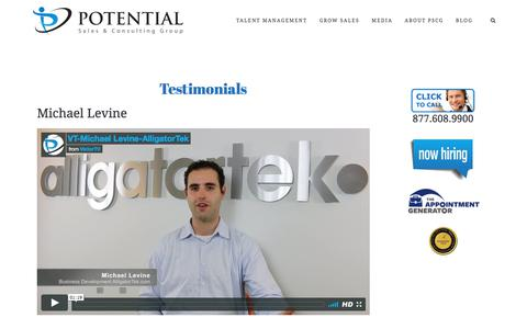 Testimonials – Potential Sales and Consulting Group