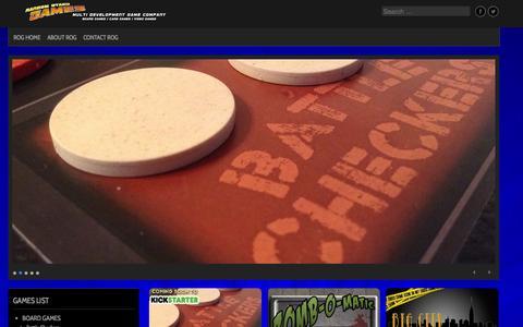 Screenshot of Home Page randomotakugames.com - Random Otaku Games | Multi-Development Game Company - captured Oct. 7, 2014