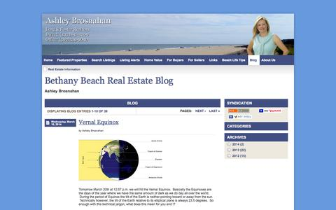 Screenshot of Blog bethanybeach-homes.com - Real Estate Information - Long & Foster Realtors Bethany Beach Real Estate - captured Oct. 4, 2014