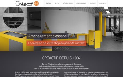 Screenshot of Home Page creactif.ch - Accueil - captured Dec. 13, 2015