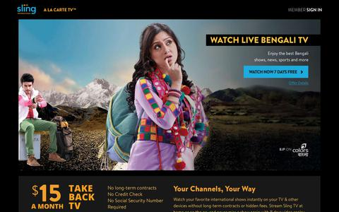 Sling TV - Watch Live Bengali Channels on the #1 Live International TV provider in the US