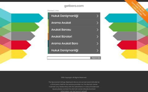 Screenshot of Home Page getbaro.com - getbaro.com - captured July 14, 2018