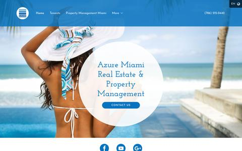 Screenshot of Home Page azuremiami.net - Real Estate Property, Property Management Company, Tenant Screening Miami, Miami Beach - captured July 6, 2018