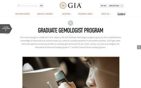 Graduate Gemologist Program