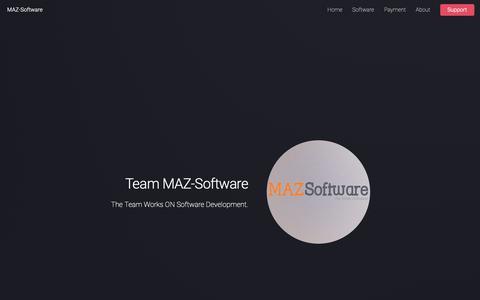 Screenshot of Home Page maz-software.com - MAZ-Software - captured Nov. 3, 2018