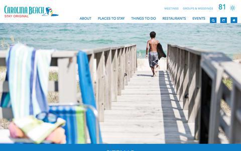 Screenshot of Site Map Page wilmingtonandbeaches.com - Sitemap   Carolina Beach, NC   Official Tourism Site - captured June 27, 2017