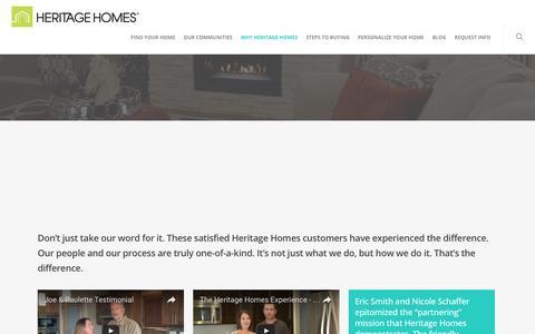 Screenshot of Testimonials Page heritagefargo.com - Testimonials – Heritage Homes   Fargo-Moorhead Custom Home Builder - captured Nov. 7, 2016