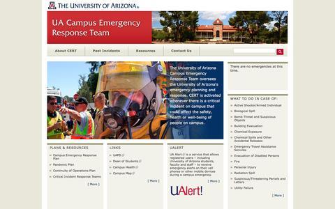 UA CERT | UA Campus Emergency Response Team