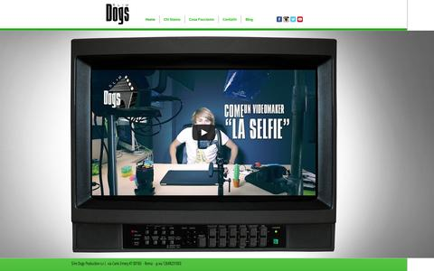 Screenshot of Home Page slimdogsproduction.com - Slim Dogs Production - captured Sept. 30, 2014