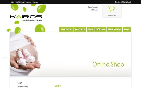 Screenshot of Login Page kairos-life.com - KAIROS-life.com - captured Oct. 6, 2014