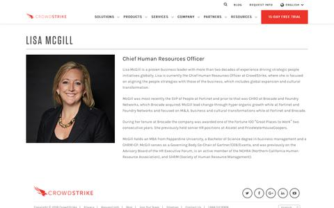 Lisa is the Chief Human Resources Officer at CrowdStrike
