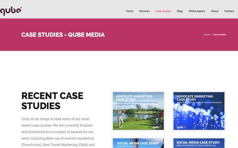 Screenshot of Case Studies Page qubemedia.net - Case studies - Qube Media - captured Dec. 13, 2015