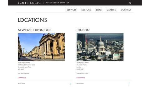 Screenshot of Locations Page scottlogic.com - Locations - captured Sept. 22, 2014