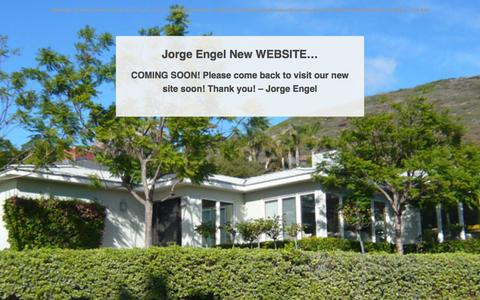 Screenshot of Home Page jorgeengel.com - - Jorge Engel Associates - captured Sept. 8, 2015