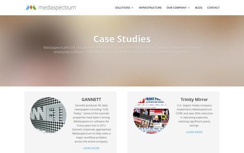 Screenshot of Case Studies Page mediaspectrum.net - Case Studies - old - Cloud-Based Advertising Solutions for Publishers - Mediaspectrum - captured June 20, 2018