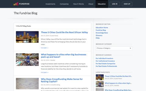 Screenshot of Blog fundrise.com - Fundrise Blog Posts   Fundrise - captured Oct. 28, 2014