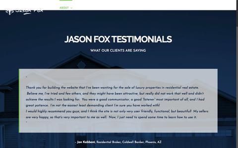 Screenshot of Testimonials Page jasonfox.me - Jason Fox Reviews - captured Sept. 20, 2018