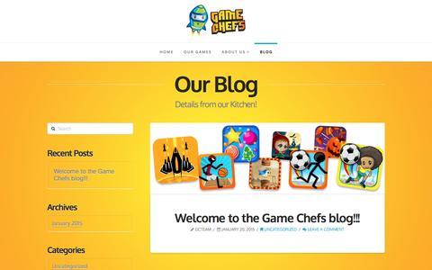 Screenshot of Blog gamechefs.com - Blog   Game Chefs - captured Dec. 7, 2015