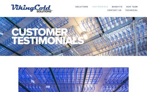 Screenshot of Testimonials Page vikingcold.com - Customer Testimonials — Viking Cold Solutions™ - captured Feb. 21, 2016
