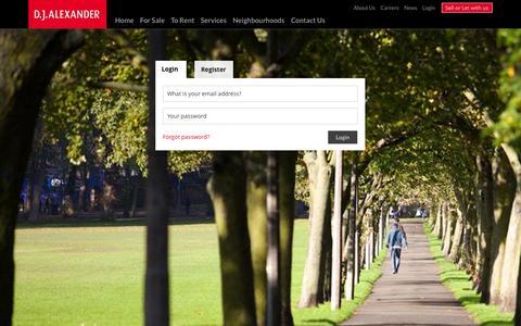 Screenshot of Login Page djalexander.co.uk - Login - captured Nov. 2, 2014
