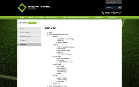 Screenshot of Site Map Page worldoffootball.com - Site map | World of Football - captured Sept. 21, 2018