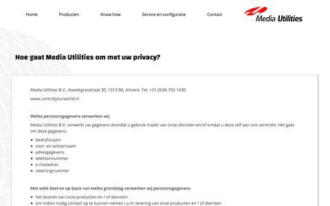 Screenshot of Privacy Page media-utilities.nl - Hoe gaat Media Utilities om met uw privacy? - captured Oct. 17, 2018