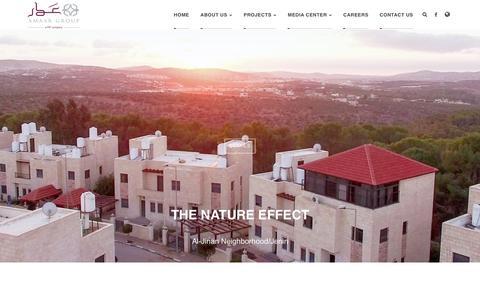 Screenshot of Home Page amaar.ps - Home - captured Oct. 3, 2018