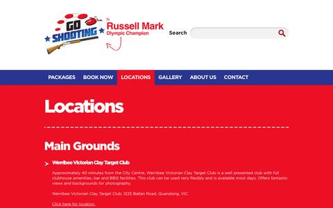 Screenshot of Locations Page goshooting.com.au - Victorian clay target club & Queensland | Go Shooting - captured March 3, 2017