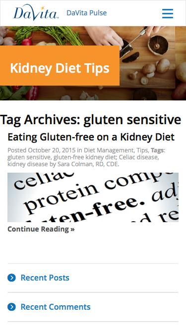 gluten sensitive Archives - Kidney Diet Tips
