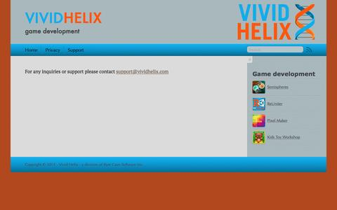 Screenshot of Support Page vividhelix.com - Vivid Helix - captured Dec. 16, 2016