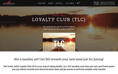 Screenshot of Signup Page turtlejacks.com - TLC Rewards – Turtle Jack's - captured Jan. 29, 2017
