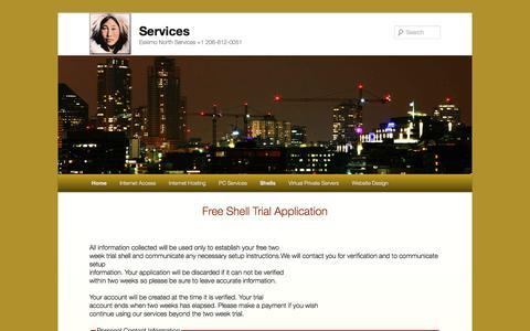 Screenshot of Trial Page eskimo.com - Free Trial | Services - captured Jan. 17, 2016