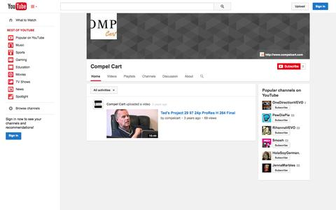 Screenshot of YouTube Page youtube.com - Compel Cart  - YouTube - captured Oct. 22, 2014