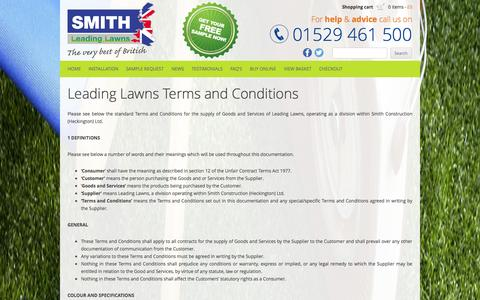 Screenshot of Terms Page smithleadinglawns.co.uk - Leading Lawns Terms and Conditions | Smith Leading Lawns - captured Oct. 31, 2014