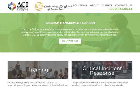 Screenshot of Team Page acispecialtybenefits.com - Management - ACI Specialty Benefits - captured Jan. 28, 2018