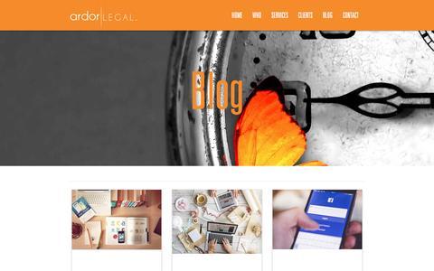Screenshot of Blog ardorlegal.com.au - Ardor Legal - captured May 30, 2017
