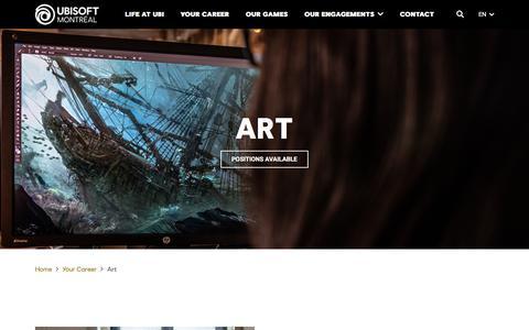 Screenshot of Jobs Page ubisoft.com - Art - Ubisoft Montréal - captured Nov. 8, 2019