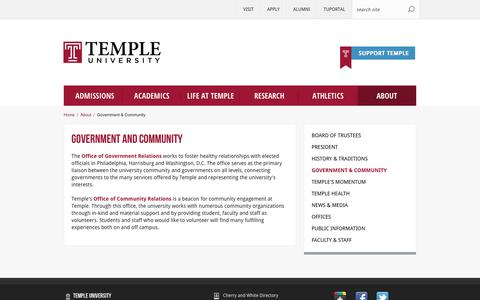 Government and Community | Temple University
