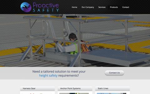 Screenshot of Products Page proactive-safety.com.au - Products | Proactive Safety - captured Sept. 30, 2014