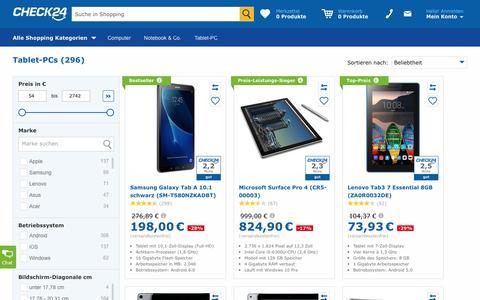 Tablet-PC günstig im CHECK24-Preisvergleich