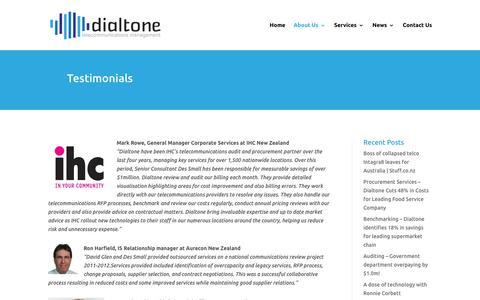 Screenshot of Testimonials Page dialtone.co.nz - Testimonials | Dialtone - captured Feb. 9, 2016