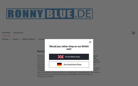 Screenshot of About Page spreadshirt.de - Ronnyblue Geschenke- und T-Shirt Shop - captured June 9, 2018