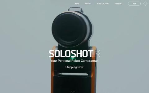 Screenshot of Home Page soloshot.com - SOLOSHOT® Robot Cameraman - captured April 20, 2018