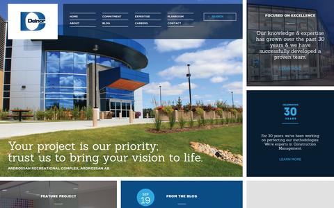 Screenshot of Home Page delnor.ca - Home | Delnor Construction - captured Oct. 5, 2014