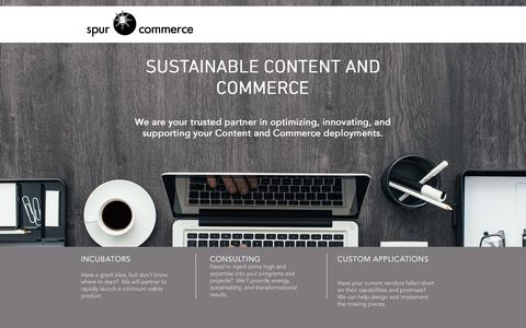 Screenshot of Home Page spurcommerce.com - Commerce Cloud Consulting & Services | Spur Commerce - captured Nov. 6, 2017