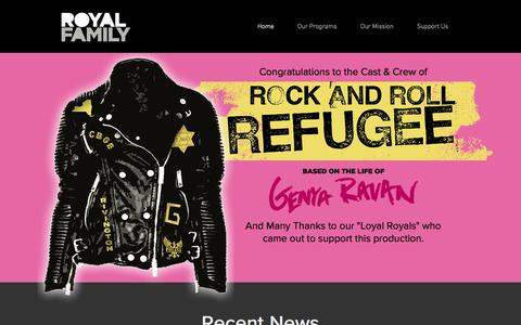 Screenshot of Home Page royalfamilyproductions.org - Royal Family - Bringing downtown theatre to Broadway - captured Feb. 24, 2016