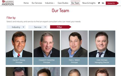 Screenshot of Team Page morrisanderson.com - Meet the Team Archive - MorrisAnderson & Associates, Ltd - captured Oct. 20, 2018
