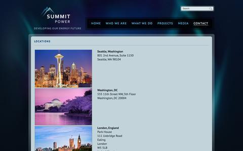 Screenshot of Locations Page summitpower.com - Locations | Summit Power - captured Nov. 4, 2017