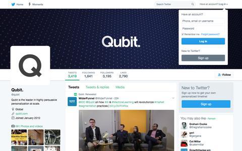 Qubit. (@qubit)   Twitter