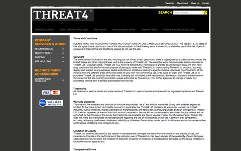 Screenshot of Terms Page threat4store.com - Terms - captured Oct. 7, 2014